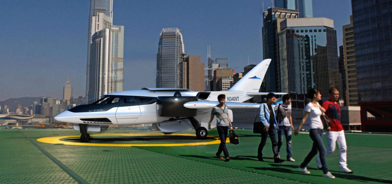 helipad city ready for take off with people