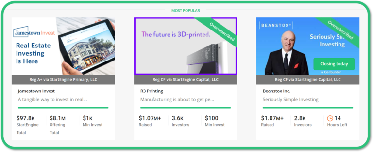 R3 Printing on StartEngine - Most Popular!
