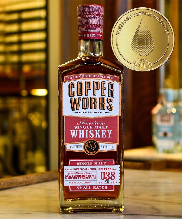 Copperworks American Single Malt Whiskey R038