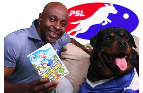 Photo of Jerry Rice & his  Dog Nitus